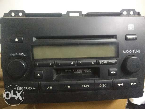 Toyota prado original cd player