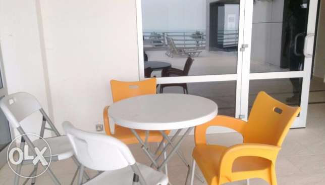 Sea view semi furnished duplex apartment with terrace and balcony for