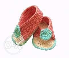 crochet baby slippers