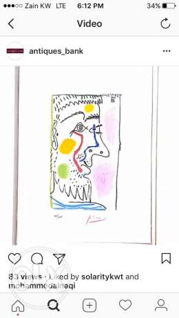 Picasso lithograph with authentication