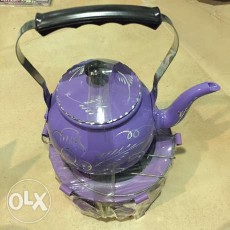 Tea pot with heating stand
