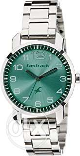 Fastrack Analog Silver Dial Women's Watch