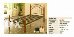 Metal bed with Wooden Legs