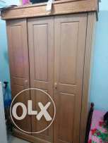 Double door wooden wardrobe