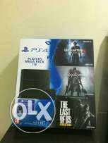 Ps4 new 1 tb with 3 new games
