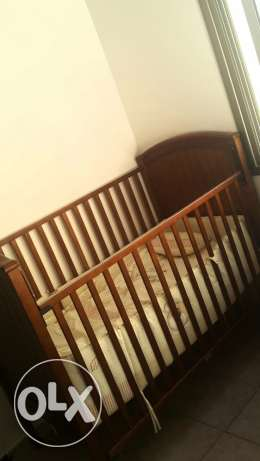 New juniors baby cot with matress and bed set