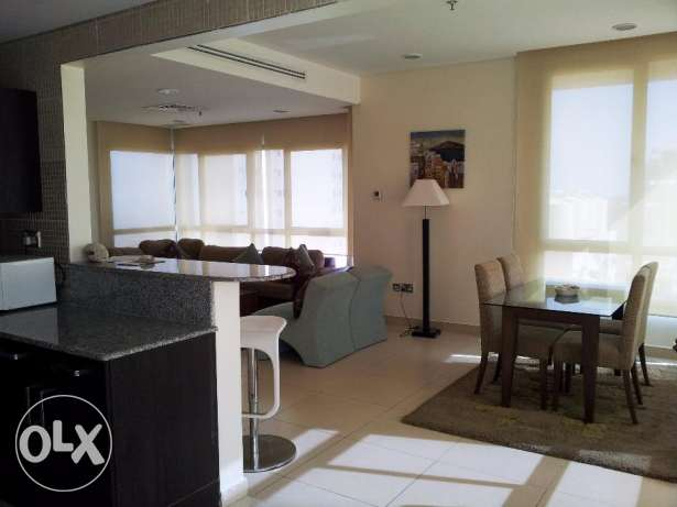 Luxury two bedroom full furnished flat with sea view KD 750 in Salmiya