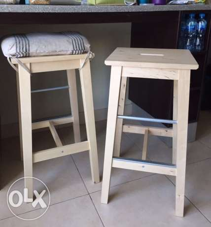 IKEA bar stools + seating cushion