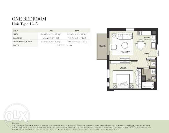 one bedroom in townsquare from al nashama only 52000 KUW