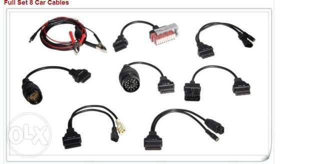 Professinal OBD2/OBD adapters set of 8 cables for Mercedes, BMW, Fiat. السالمية -  3