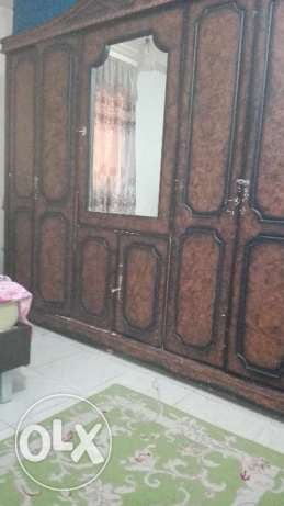 Wooden wardrobe set available for sale