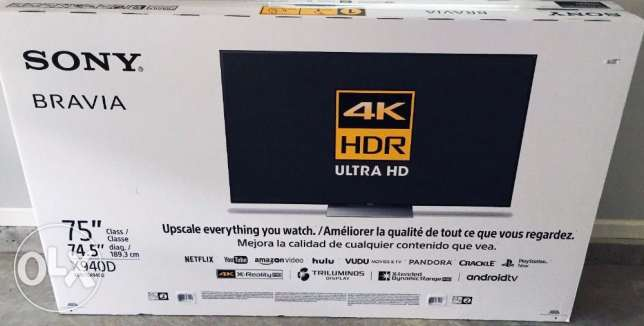 Brand New Sealed Sony XBR75X940D 75-Inch 4K Ultra HD Smart TV 2016 Mod
