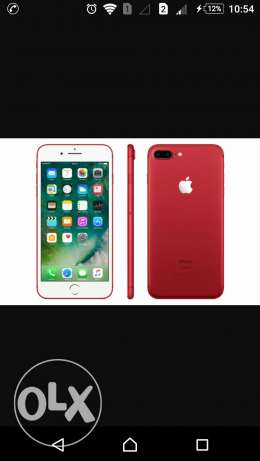 I phone 7 plus 256 red one