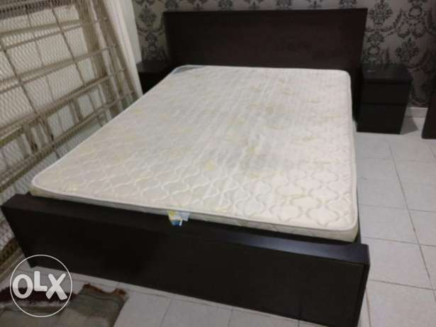 Home Center Bed mattress with side Tables