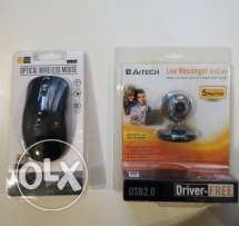 Case Logic Wireless Mouse/A4 Tech Web Cam