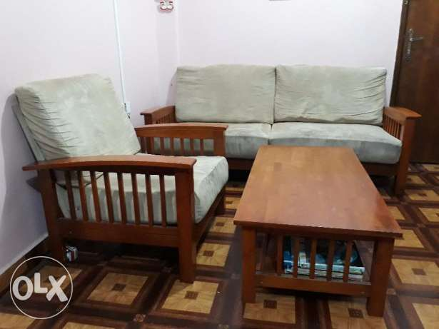 Strong wooden sofa for sale