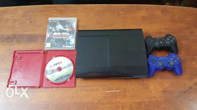 Ps3 500GB for sale 2 games+2 controller