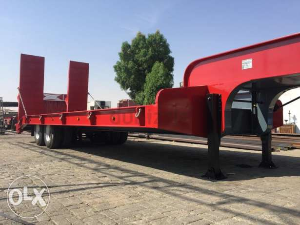 2017 model brand new low bed trailers with 5 years warranty of chassis