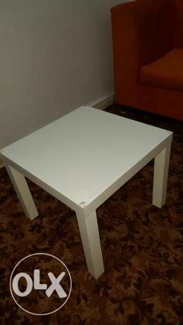 IKEA White Coner Table
