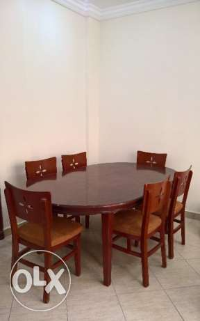 Premium elegant dining table with 6 chairs