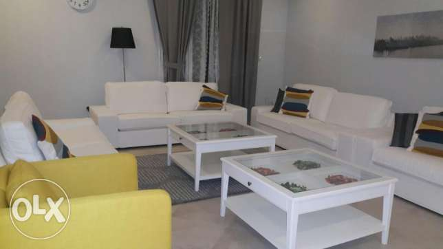 Lovely sea view furnished 2 bedroom apartment with pool in mahboula.