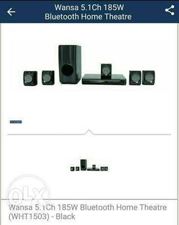 Wansa Bluetooth 5.1 Dvd Home Theater 185 watts