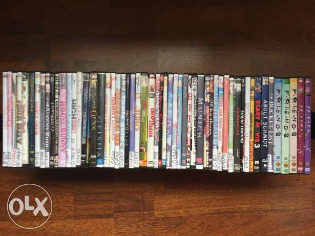 55 DVDs (including Friends series)