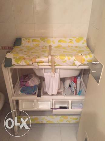 baby shower and changing table