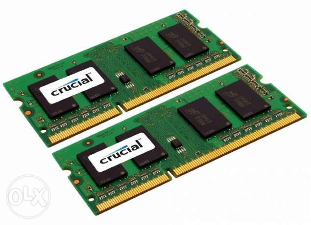 Crucial 16GB Kit (8GBx2) Laptop DDR3 1600 MT/s (PC3-10600)