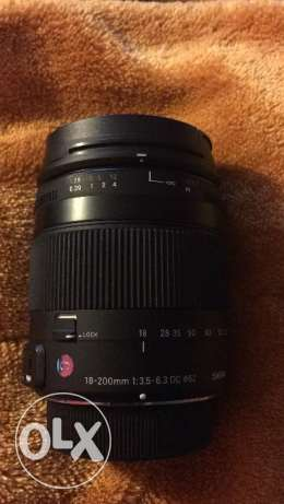 Sigma 18-200mm f3.5-6.3 DC Macro lens With OS for Nikon