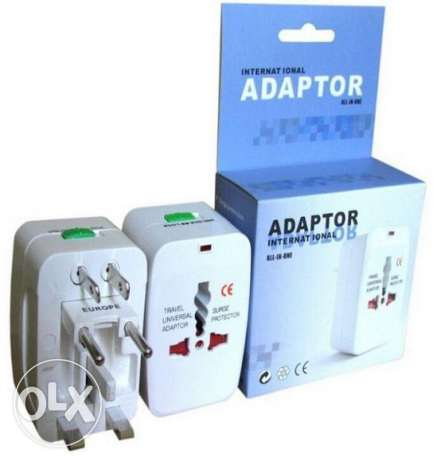3 PCS Universal Au Uk Us Eu Ac World Wide Travel Adaptor- FREE DELIVEY