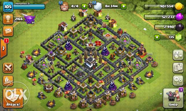 Accounts clash of clans town 9 max