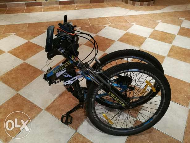 RockHummer folding bike with accessories