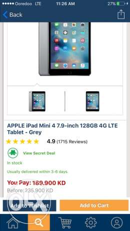 IPad mini 4 128gb 4g and wifi. for sale brand new sealed pack