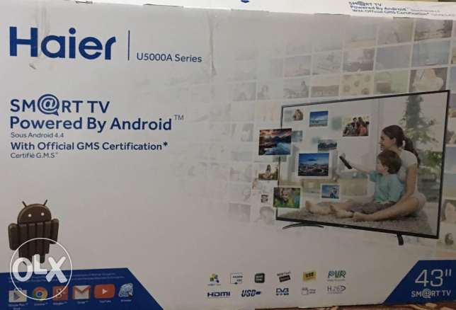 HAIER 43-inch FULL HD (1080P) Smart Led Android Tv Guarantee One Years