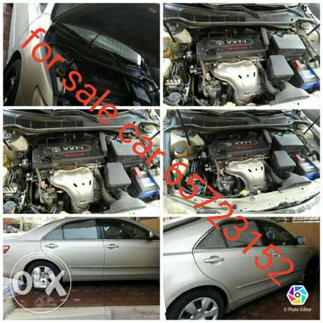 Camry 2007 model golden color with GPS + dvd