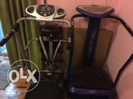 Treadmill and Fitmassage equipment
