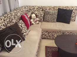 Sofa set 3 piece!! + extra cover + cushions