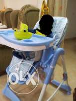Juniors Baby cot and baby feeding chair