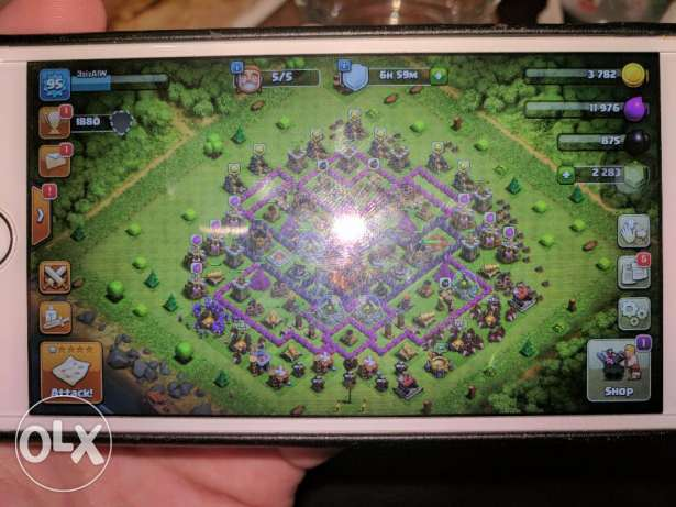 Clash of clans level 95 and town hall level 10