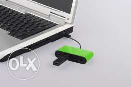 2Pcs Buffalo USB hub 4 port ( Colorful and stylish ) - FREE DELIVERY