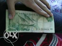 Old 10 dinar Kuwait for 25 kwd