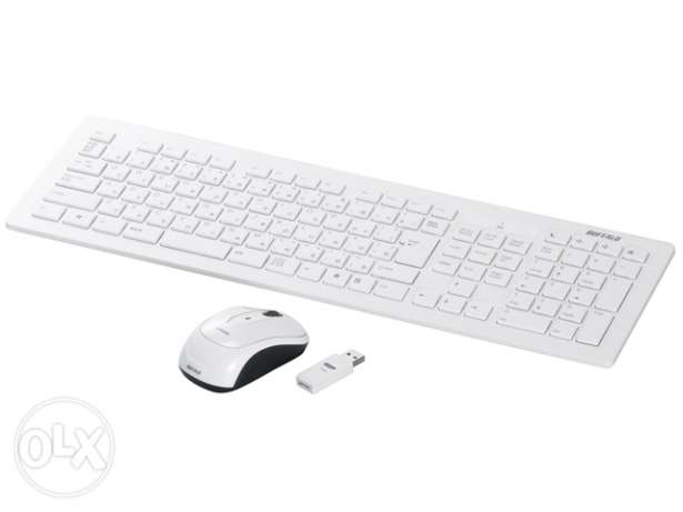 Buffalo Wireless Vardia keyboard & Mouse ( ENG/JAP) - FREE DELIVERY
