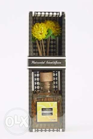 6Artificial Flower Reed Diffuser Lemon Fragrance
