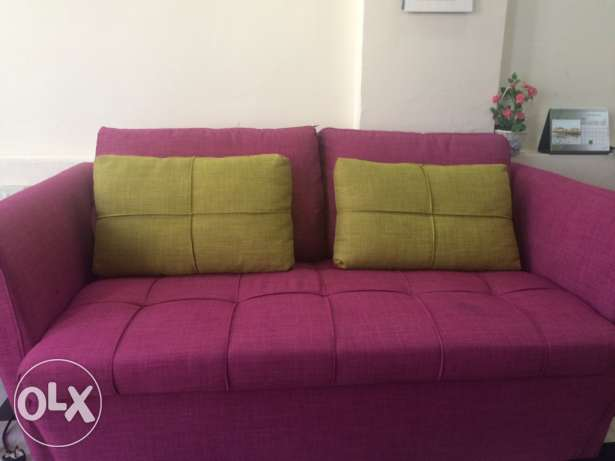 coloured 4+2+1 seater sofa