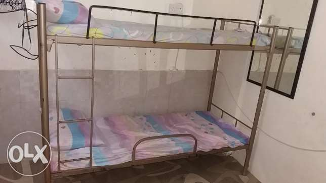 Kids bunk bed and Leather sofa cum Bed