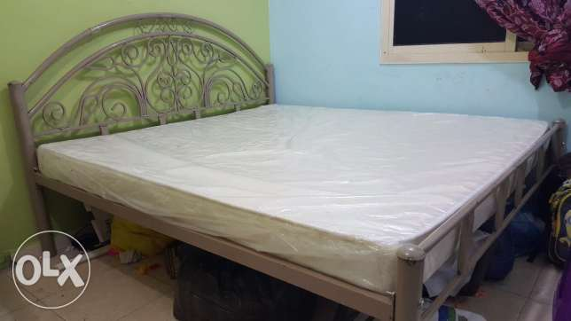 Iron cot - 20 KD & Al-Baghli medicated mattress - 180×190 - 60 KD