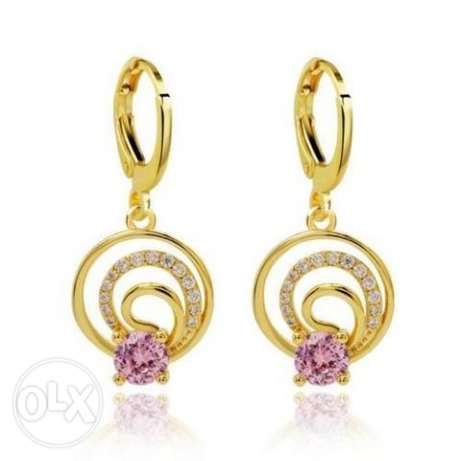 9K Solid Gold Filled Laser Carved Womens Hoop Earrings