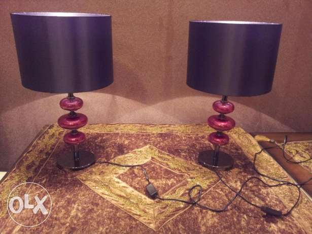 Exotic table lamps ,attractive colors ,affordable price, very few left