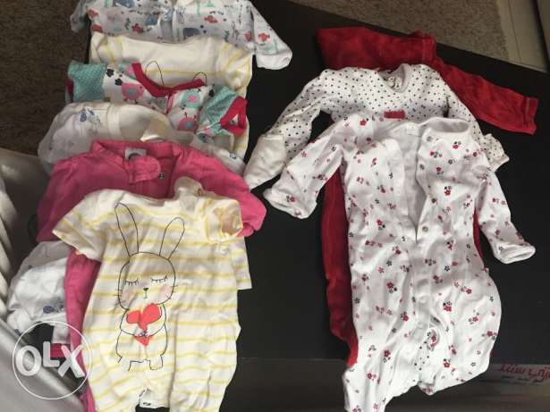 Baby rompers from 3kg -6kg 9 pieces for 4kd السالمية -  1